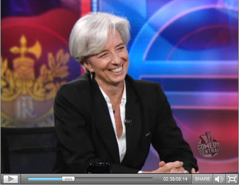 Christine Lagarde au Daily Show