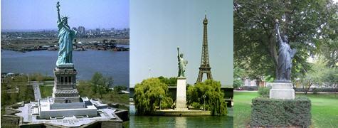 Statue libert maison blanche - Statue de la liberte jardin du luxembourg ...