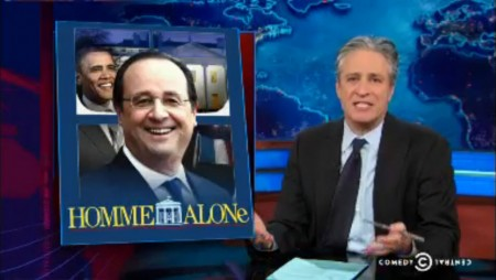 Hollande Jon Stewart1
